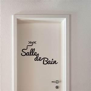 Stickers Porte Salle De Bain : sticker salle de bain stickers porte stickers deco ~ Dailycaller-alerts.com Idées de Décoration