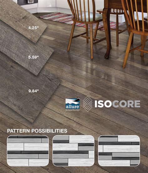 install allure isocore multi width vinyl plank