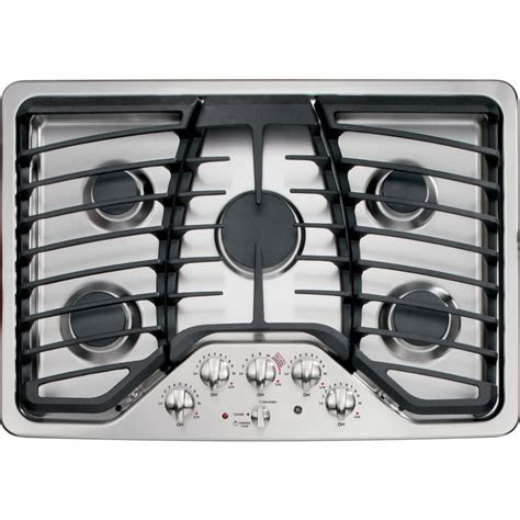 ge profile  burner gas cooktop stainless steel common   actual    lowescom