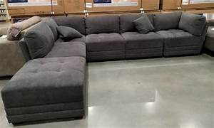 6-Piece Modular Fabric Sectional in Dark Gray from Costco