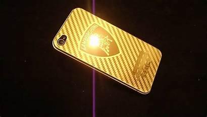 Gold Lamborghini Iphone 24k Plated Rear