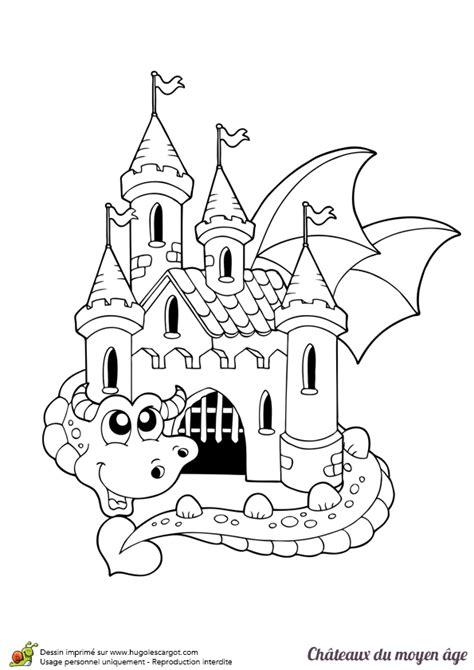 recette de cuisine ce1 dessin à colorier d un château du moyen âge avec un