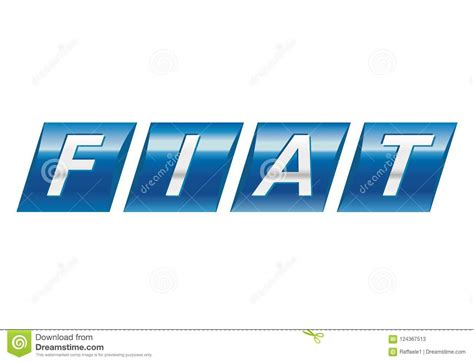 Logo Fiat Old Editorial Stock Photo. Illustration Of Blue
