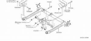 55080-2l71a - Suspension Strut Bolt  Absorber  Link  Member