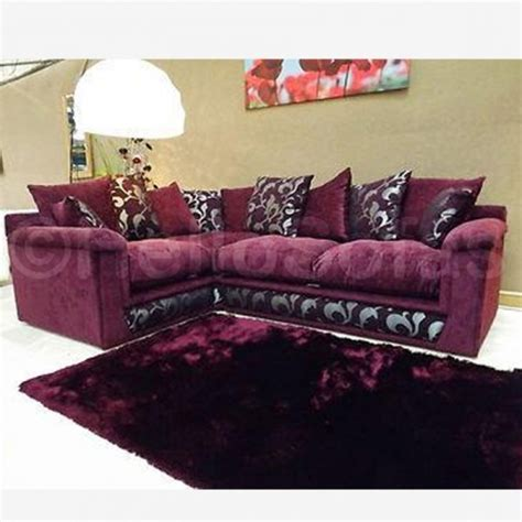 Purple Contemporary Sofa by Migano Purple Fabric Corner Sofa Contemporary Sofas