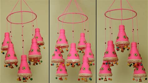 Decorating Ideas Using Plastic Bottles by Diy Wind Chime Handmade Wall Hanging Using Plastic