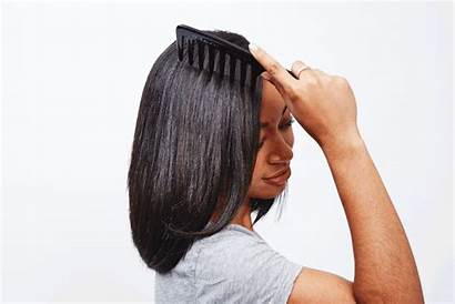 Finished Hair Curly Straighten Beauty Popsugar Comb