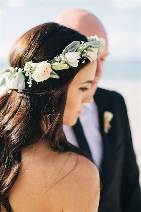 Floral crown with hair down Wedding crown Floral crown