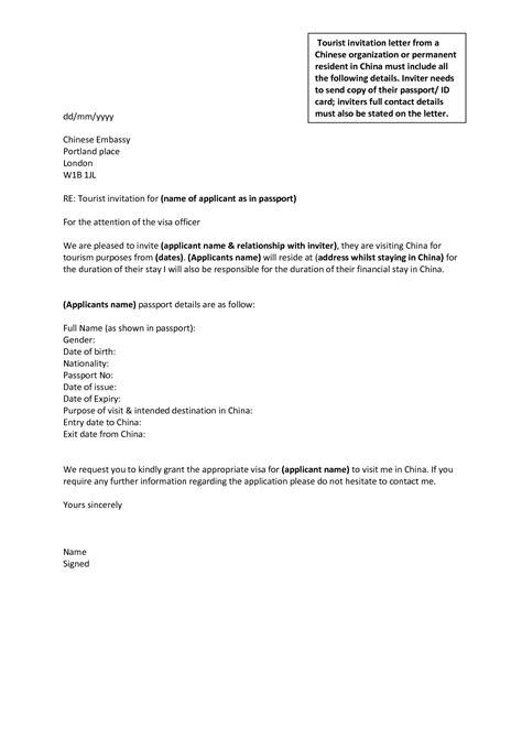 Letter Of Invitation For Uk Family Visitor Visa | letter of