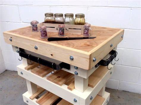 pallet kitchen island butcher block pallet kitchen island 45 pallets 99 pallets 1406