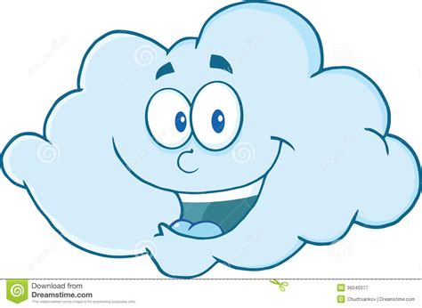 Happy Cloud Cartoon Character Stock Illustration
