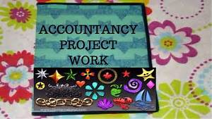 Total Cash Flow 12th Cbse Accountancy Project Work Youtube