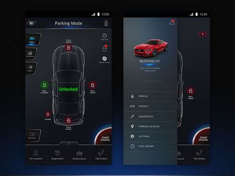 Car Designing Apps For Android by Car App Dashboard Apps User Interface App Ui