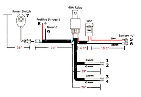 led road light bar wiring diagram light switch wiring