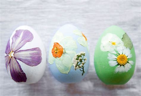 How To: Pressed Flower Easter Eggs   The BLOG at Terrain