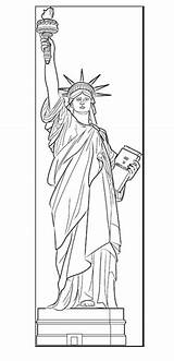 Liberty Lady Coloring sketch template