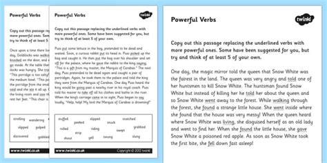 powerful verbs worksheets verbs verbs worksheets