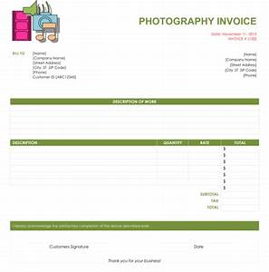 free photography invoice template best template collection With sample invoice for photography services