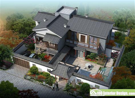 chinese classical garden  courtyard aerial view courtyard design modern courtyard