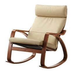 po 196 ng rocking chair glose off white medium brown ikea
