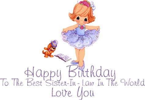 Happy  Ee  Birthday Ee   Sister In Law Quotes Quotesgram