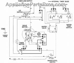 Parts For Maytag Lat8506aae  Wiring Information Parts