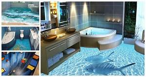 Bathroom flooring close to reality d floor designs with for Kitchen cabinets lowes with 3d balloon wall art