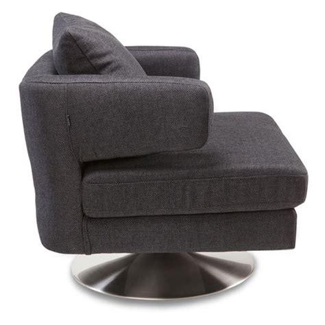 bora modern swivel fabric chair charcoal grey zuri