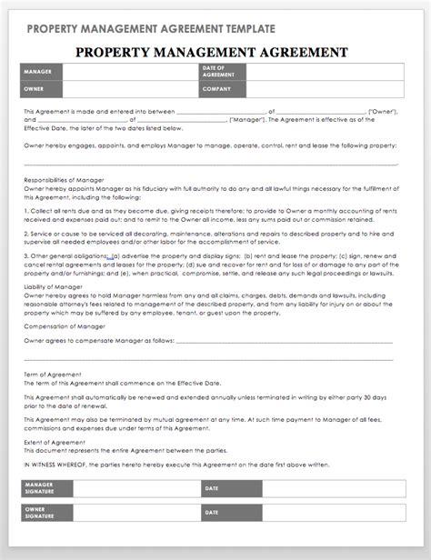 property management templates smartsheet