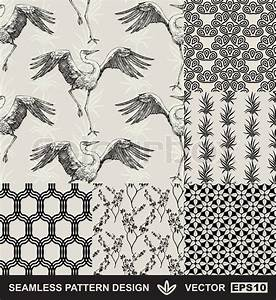 Stoffe Mit Muster : abstract backgrounds set mode nahtlose muster vektor wallpaper vintage und monochrome ~ Frokenaadalensverden.com Haus und Dekorationen