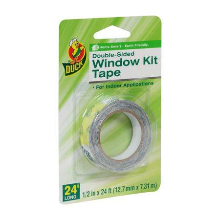 "Duck Brand Doublesided Indoor Window Kit Tape, 12""x24"