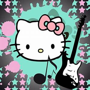 Hello Kitty With Guitar iPad Wallpaper | iPhone Fan Site