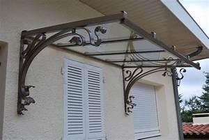 Marquise auvent fer forge inox contemporaine sur mesure for Superb escalier exterieur metallique leroy merlin 10 marquise auvent fer forge inox contemporaine sur mesure
