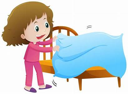 Bed Making Clipart Illustration Vector Mess Cliparts