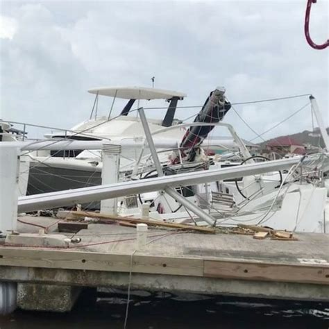 Hurricane Irma Tortola Boats by Brave British Parents Laid On Young Children As Hurricane