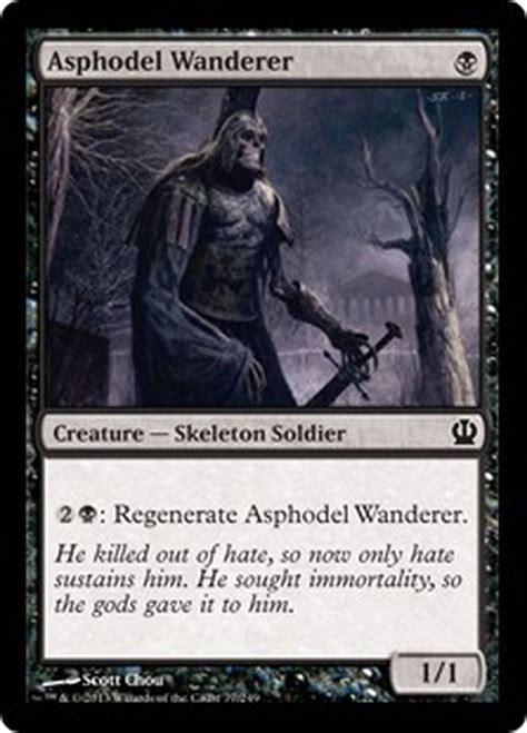 Mtg Black Skeleton Deck by Asphodel Wanderer X4 Nm Theros Mtg Magic Cards Black