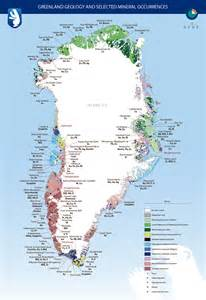 Greenland Mineral Occurrence Map