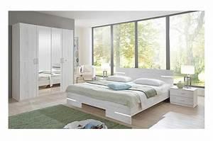 Meuble Chambre Adulte : chambre adulte compl te ch ne blanc cbc meubles ~ Dode.kayakingforconservation.com Idées de Décoration