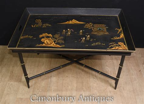 chinese black lacquer coffee table tray chinoiserie