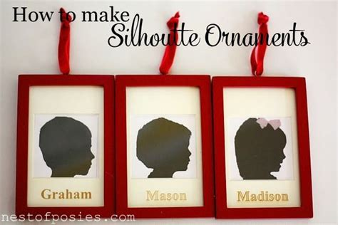 how to make posies how to make silhouette ornaments the easiest way ever nest of posies getting crafty diy