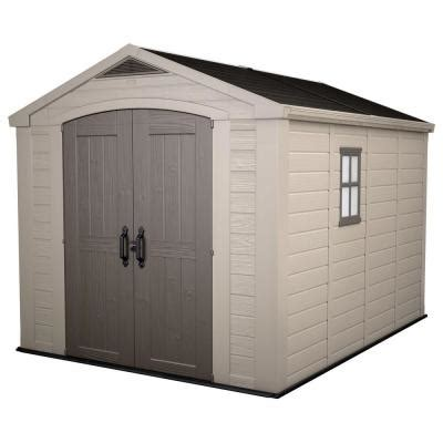 keter factor 8 ft x 11 ft plastic outdoor storage shed