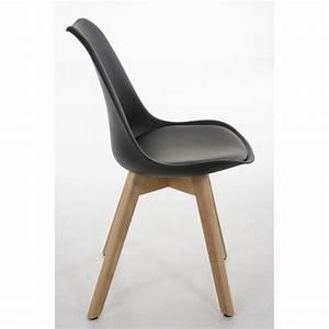 lot de 6 chaises de salle a manger scandinave simili cuir With salle À manger contemporaineavec chaise noir pied bois