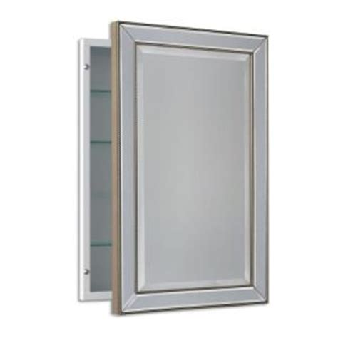 Recessed Medicine Cabinet Canada by Deco Mirror 16 In W X 26 In H X 5 In D Framed Single