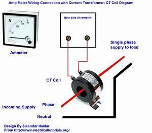 Amp Meter Wiring With Current Transformer In Urdu  Hindi