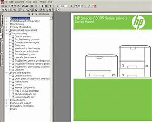 Hp Laserjet P3005 Printers Service Manual  Parts And Diagrams