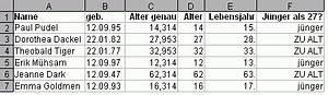 Excel Alter Berechnen Aus Geburtsdatum : alter aus geburtsdatum berechnen per tabellenkalkulation gnurpsnewoel ~ Themetempest.com Abrechnung