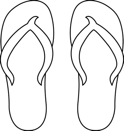 flip flops coloring pages 7 best images of printable flip flop free printable