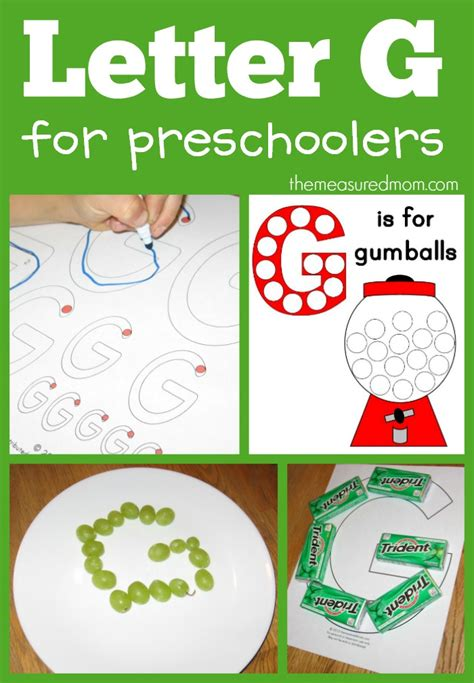 ways to make the letter g the measured 993 | letter G for preschoolers