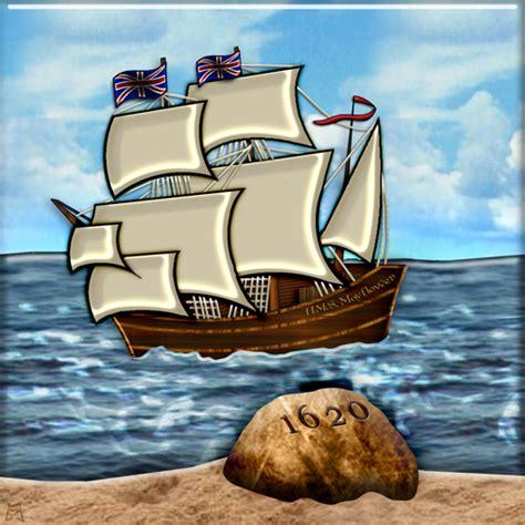 Cartoon Mayflower Boat by Postage Sts Icondoit