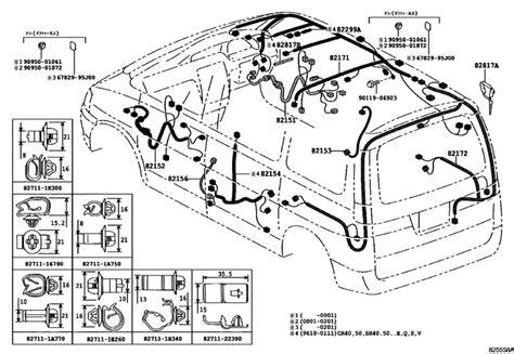wiring cl for 1996 2001 toyota lite townace noah sr40 japan sales region 17740393 911166